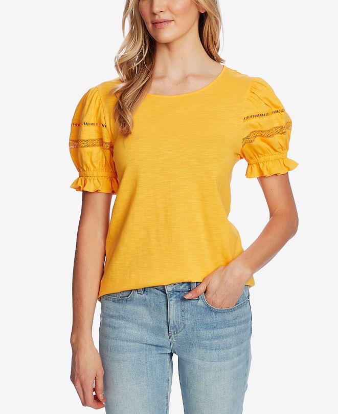 CeCe Puff-Sleeve Top