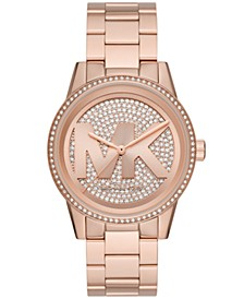 Ritz Three-Hand Rose Gold-Tone Stainless Steel Watch
