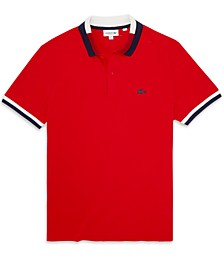 Men's Regular-Fit Tipped Piqué Polo Shirt, Created for Macy's