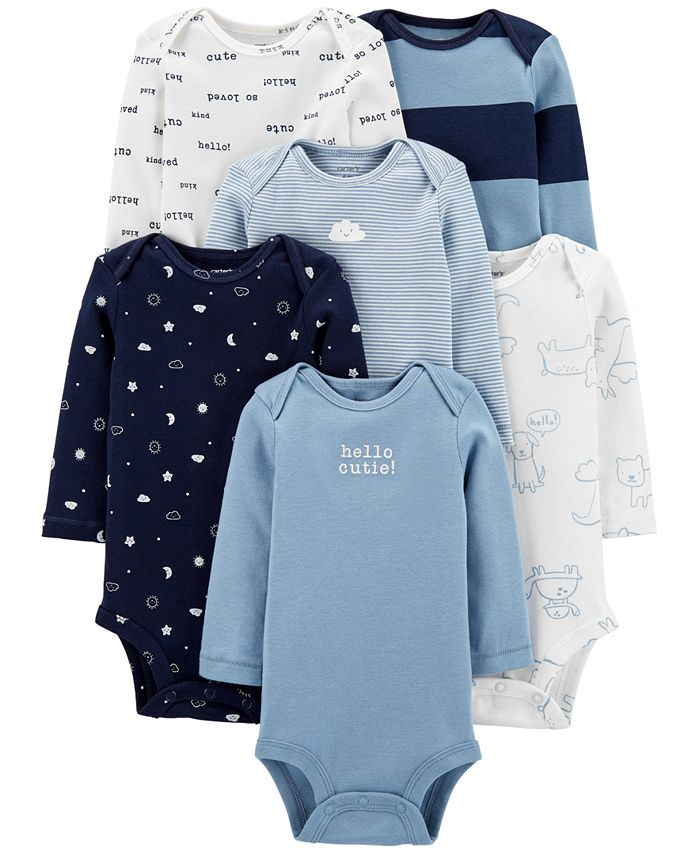 Carter's - Baby Boys 6-Pack Printed Cotton Bodysuits
