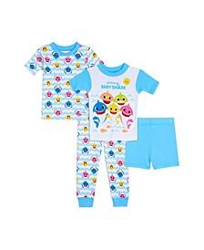 Toddler Boys Baby Shark 4 Piece Pajama Set