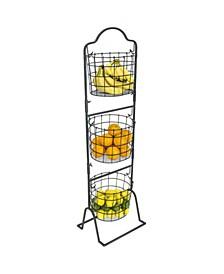 3 Tier Oval Shaped Hanging Basket