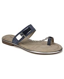 Zoria Toe Thong Flat Sandals