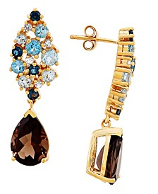 Multi-Gemstone Drop Earrings (5-1/4 ct. t.w.) in 10k Gold