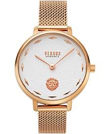 Women's La Villette Rose Gold-Tone Stainless Steel Mesh Bracelet Watch 36mm