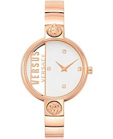 Women's Rue Denoyez Rose Gold-Tone Stainless Steel Bracelet Watch 34mm