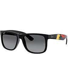 Polarized Sunglasses, RB4165 BLK GRY GRD P