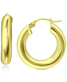 """Small Polished Hoop Earrings, 1"""", Created for Macy's"""