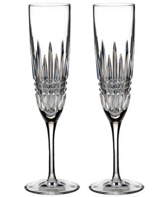 Stemware Lismore Diamond Flutes, Set of 2