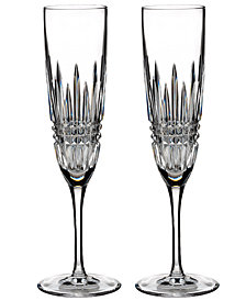 Waterford Stemware Lismore Diamond Flutes, Set of 2