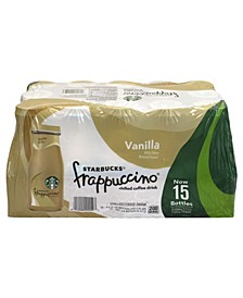Frappuccino Vanilla Coffee Drink, 9.5 oz, 15 Count