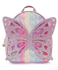 Big Girls Miss Butterfly Striped Mini Backpack