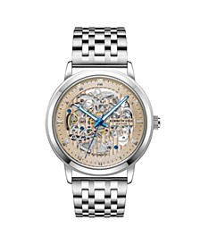 Men's  Silver-tone Stainless Steel Watch on Silver-tone Stainless Steel Bracelet, 43mm