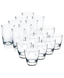 Elite Tumblers 16 Piece Glassware Set