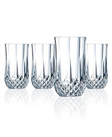 Cristal D'Arques Highball Glasses 12 oz 4 Piece Set