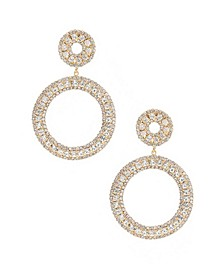 Double Crystal Statement Hoop Earrings