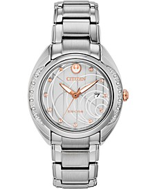 Citizen Eco-Drive Women's Star Wars Princess Leia Stainless Steel Bracelet Watch 35mm