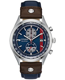Citizen Eco-Drive Men's Chronograph Star Wars Hans Solo Brown & Blue Leather Strap Watch 43mm