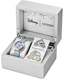 Citixen Eco-Drive Women's Cinderella 70th Anniversary Blue Leather Strap Watch 32mm, A Limited Edition