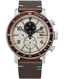 Citizen Eco-Drive Men's Chronograph Star Wars Luke Skywalker Brown Leather Strap Watch 44mm