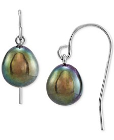 Cultured Freshwater Pearl (7-8mm) Drop Earrings in Sterling Silver, Created for Macy's