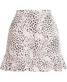 Ruffled Animal-Print Shorts