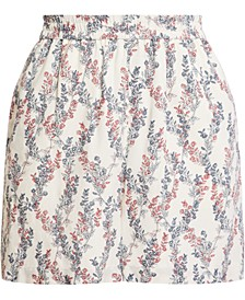 Floral-Print Woven Shorts