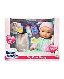 My First Baby Play Set with Toy Baby Doll Scented