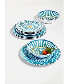 Topaz 12 pc Melamine Dinnerware Set