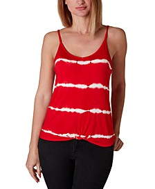 Juniors' Twist-Bottom Tie-Dye Tank Top