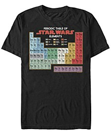 Men's Star Wars Periodic Table of Elements Short Sleeve T-shirt
