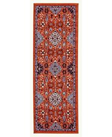 Sanya SNA-6 Crimson 2' x 6' Runner Rug