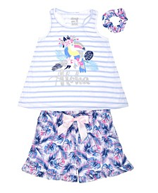 Big Girls Aloha Short Set