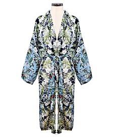Color Block Floral Kimono