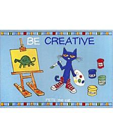 "Elementary Be Creative 3-Pelm02 Multi 4'11"" x 6'6"" Area Rug"