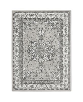 """Haven Lane Hal06 Gray and Ivory 5'2"""" x 7'2"""" Area Rug"""