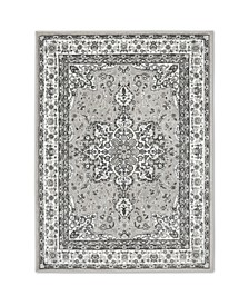 "Haven Lane Hal06 Gray and Ivory 5'2"" x 7'2"" Area Rug"