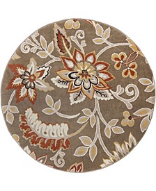 "Haven Hav13 Taupe 3'3"" x 3'3"" Round Rug"