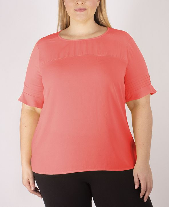 NY Collection Women's Plus Size Blouse