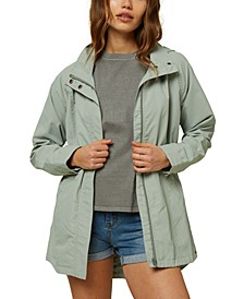 Juniors' Gayle Hooded Rain Jacket