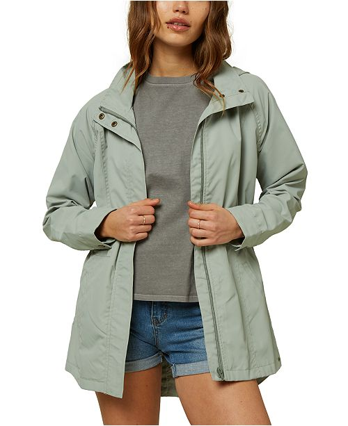 O'Neill Juniors' Gayle Hooded Rain Jacket