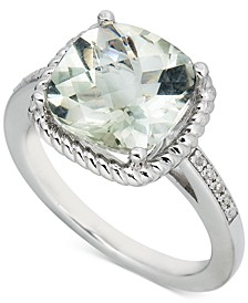 Blue Topaz (3-1/2 ct. t.w.) & Diamond (1/20 ct. t.w.) Ring in Sterling Silver (Also in Pink Amethyst & Green Amethyst)