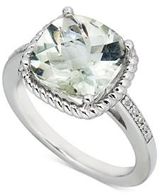 Blue Topaz (3-1/2 ct. t.w.) & Diamond (1/20 ct. t.w.) Ring in Sterling Silver (Also in Pink Amethyst & Green Quartz)