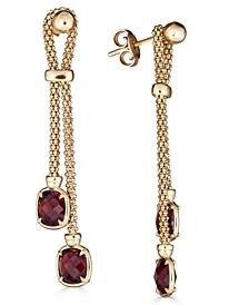 Rhodolite Garnet Dangle Drop Earrings (3-1/5 ct. t.w.) in 18k Gold-Plated Sterling Silver