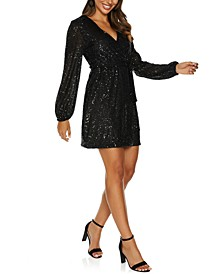Sparkle Long-Sleeve Dress