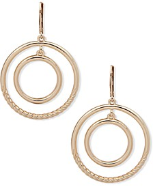 Gold-Tone Orbital Drop Earrings