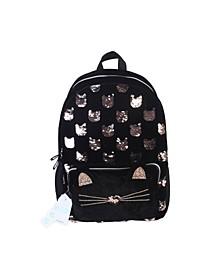 Black Velvet Cat Backpack