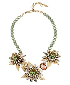New York Flower Statement Necklace