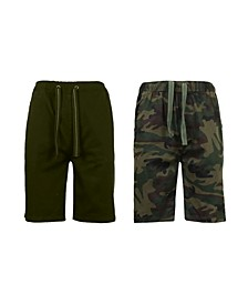 Men's 2-Packs Cotton Stretch Twill Jogger Shorts