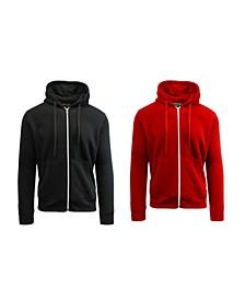 Men's 2-Packs Zip-Up Fleece Hoodies